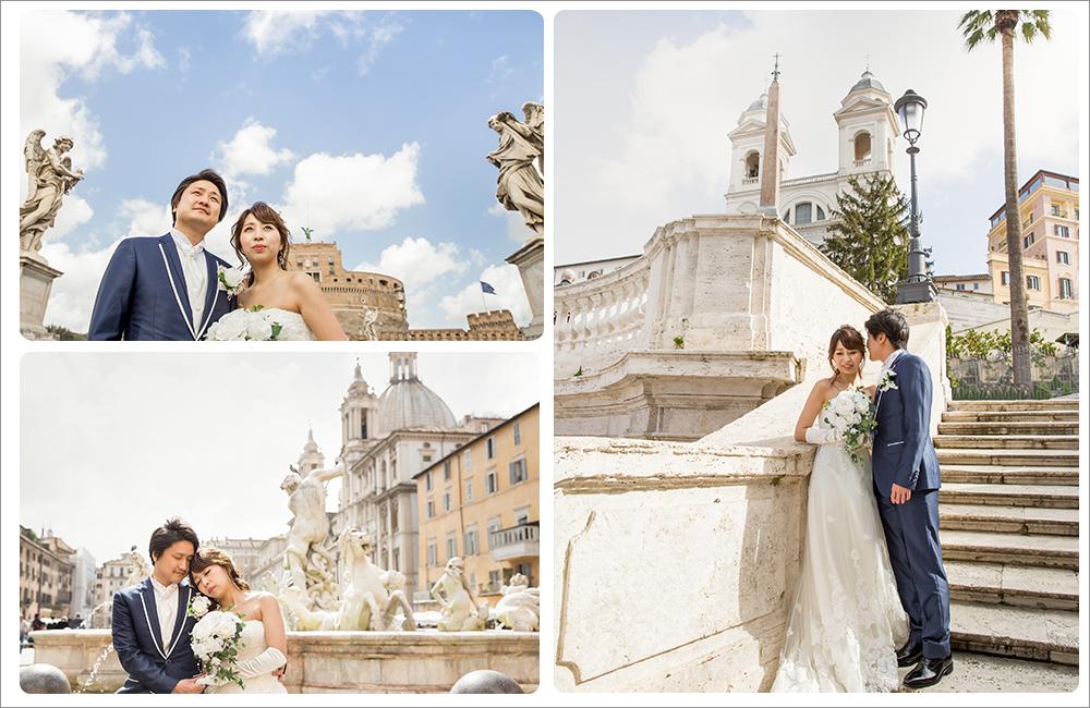 ローマ古城前撮り