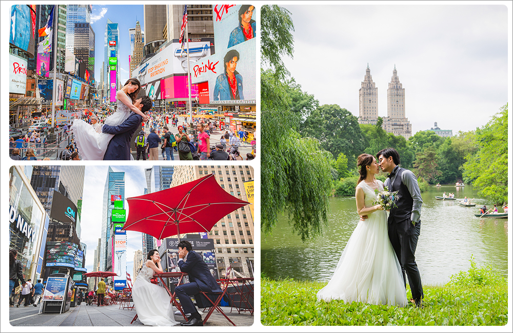 ニューヨーク新婚旅行で後撮り